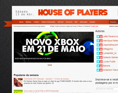 House of Players - Web Design