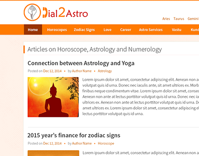 Horoscope website design -2015