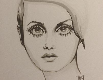 Twiggy Portrait