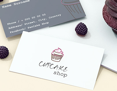 Business Card for Pancake Shop