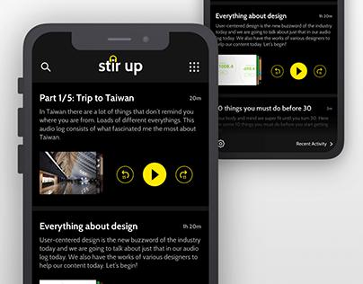 Stir Up- AV blog concept