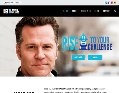 Rise to Your Challenge Website