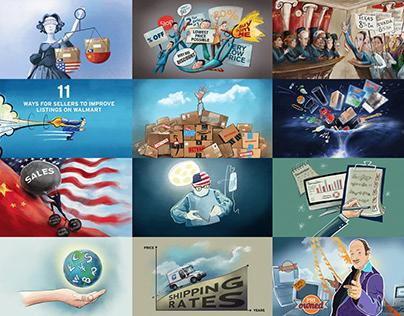 Social Media Animated Illustrations