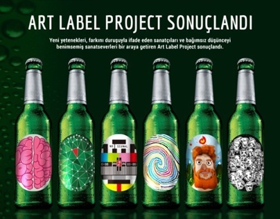 Becks Art Label Project, Caveman