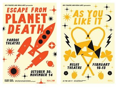 2021–22 BYU TMA Season Poster Series