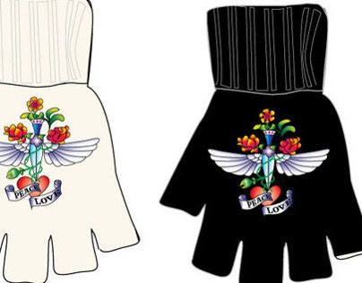 Magic Gloves for Rainbow stores using Tattoo Motifs