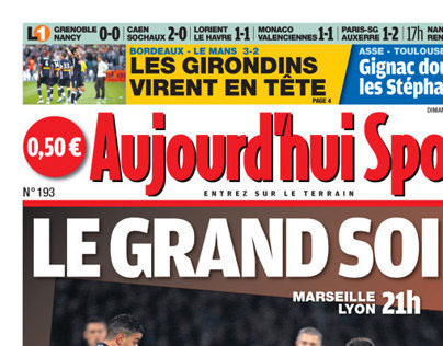Aujourd'hui Sport (Front Page)