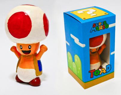 Super Mario Toad egg toy
