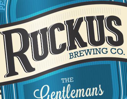 Ruckus Beer Label