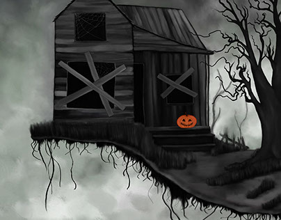 Haunted House and Jolly Pumpkin