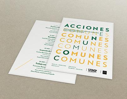 ACCIONES COMUNES. Cartel para jornadas