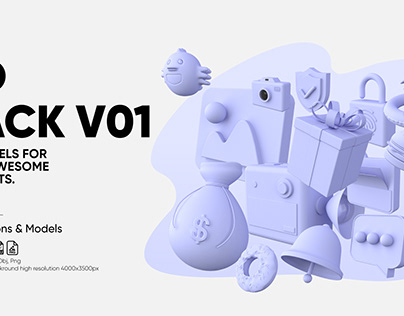 3D Pack, Icons & Models