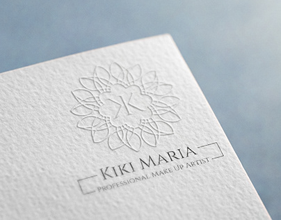 Kiki Maria's Professional Make Up Artist's logo printed on a luxurious paper