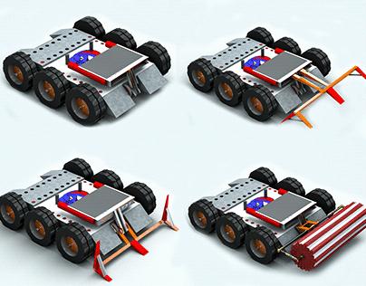 Stinger Fighting Robot Low-poly 3D model