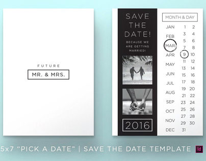 Pick A Date | Save the Date Template