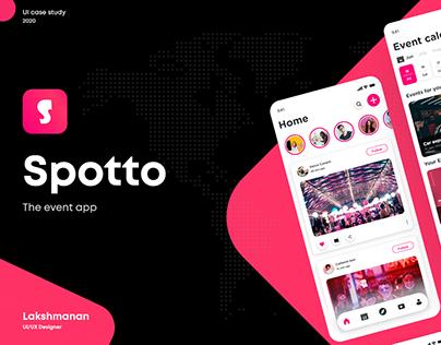Spotto (The event app) - UI Case Study