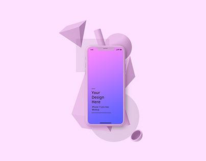iphone abstract clay mockup