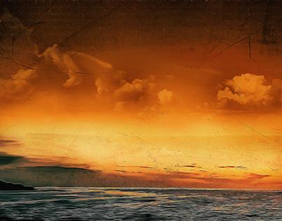 Cirkewwa Seascape. (Digital art photography to fine)