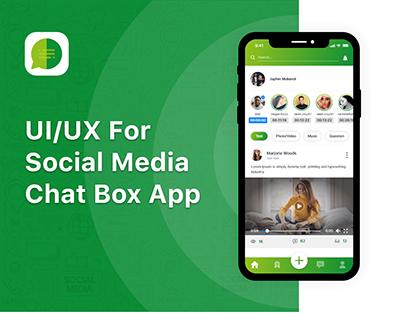 UI/UX Design of Chat Box App