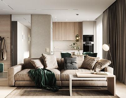 Проект квартиры площадью 72,42 м кв.