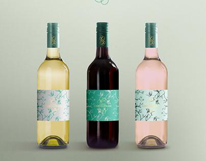 FREE PSD / display mockup wine bottle / CHRYSOPRASE