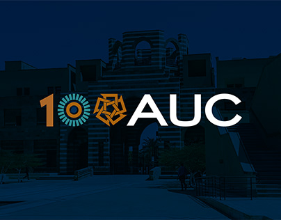 The American University in Cairo Centennial logo