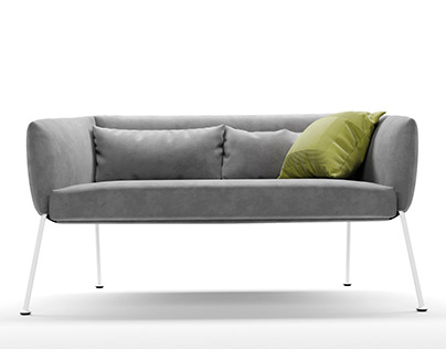 Bonaldo Nikos sofa 3d-modeling