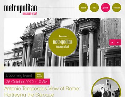 Art Museum Website UI/X