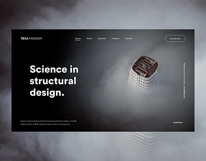 TECA Projekt | Website design