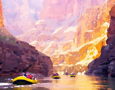 Grand Canyon Watercolors - Dane Shakespear