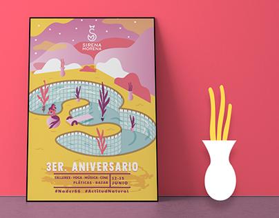 Sirena Morena 3er Aniversario.