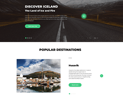 Discover Iceland - landing page
