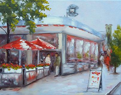 """Cary_town. Richmond"" oil on canvas"