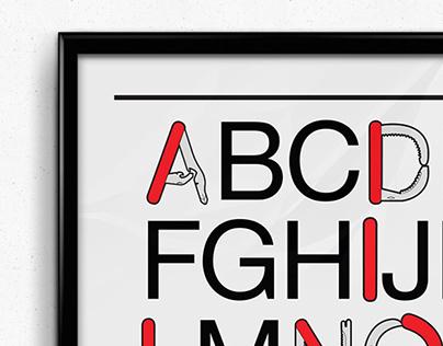 Swiss Army Knife Typography.