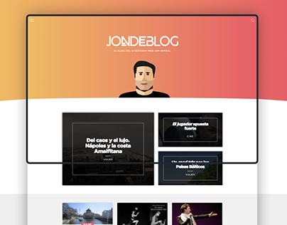 Jondeblog (responsive personal blog)