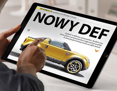 Auto Świat 4x4 / Art Direction and layout design