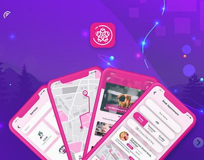 UI/UX Beauty Salon App Designs