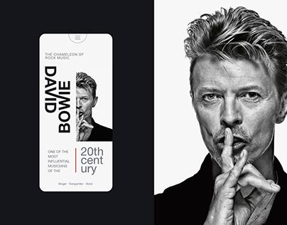 David Bowie   Landing Page UI/UX