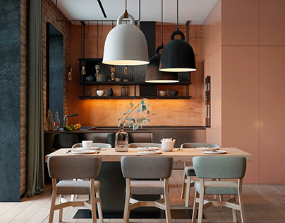 Patrick, the interior in eclectic and minimalist style