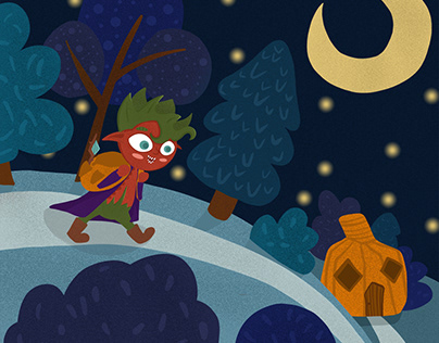 Illustration for kids book about Rosehip