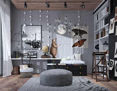 Vintage Kids Room by Dach.arch