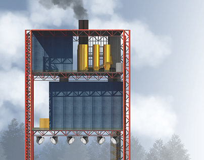 Incineration plant on Shiyes station