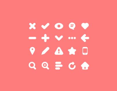 Rounded UI Icon Set