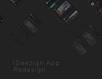 iDeezign App Redesign