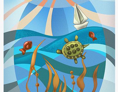 Sea Adventures | Postcard illustration 2017