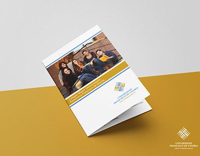 """Diseño Brochure - """"Universidad Francisco Vitoria""""."""