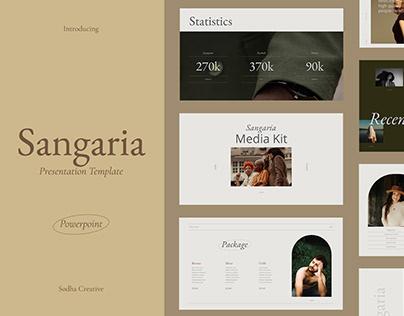 Sangaria Presentation Template