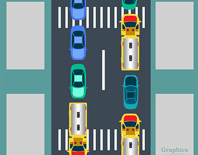 Modern Traffic Rule Model in Bangladesh Cartoon Graphic