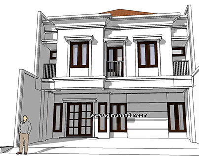 Desain Arsitektur Klasik Simple Kos di Ketintang