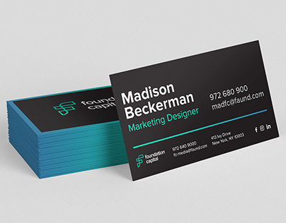 Business card concept for venture capital firm